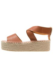 Marc O'polo Platform Sandals Saddle Cognac