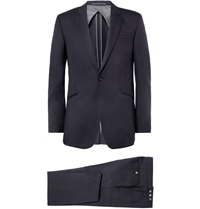Kilgour Navy Wool Suit Blue