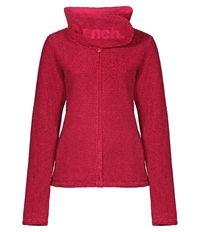 Bench Nomenclature Zip Thru Hooded Fleece Pink