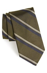 Men's Todd Snyder White Label Woven Silk Tie Olive