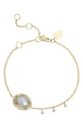 Women's Meira T Diamond And Semiprecious Stone Bracelet Yellow Gold Labradorite