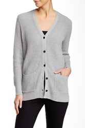 525 America Patched Elbow Cardigan Gray
