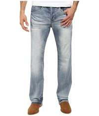 Buffalo David Bitton King Slim Boot Cut Jeans In Heavy Sandblasted Heavy Sandblasted Men's Jeans Blue