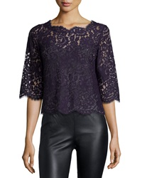 Joie Elvia Scalloped Lace Top