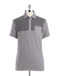 Guess Striped Cotton Polo