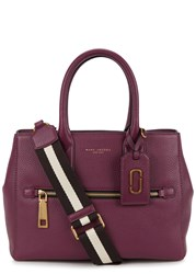 Marc Jacobs Gotham City Purple Grained Leather Tote Burgundy