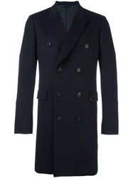 Paul Smith Double Breasted Coat Blue