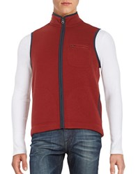 Brooks Brothers Fleece Lined Knit Vest Red