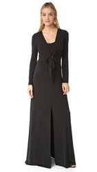 Alice Olivia Salina Long Sleeve Gown Black