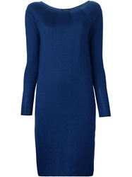 Roberto Collina Fine Knit Fitted Dress Blue