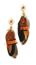 Gas Bijoux Sao Earrings Brown Gold