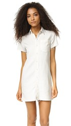Mother The Frenchie Fray Dress Dove White