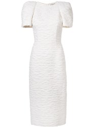 Sophie Theallet Structured Shortsleeves Dress White