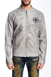 Affliction Tough Ride Faux Leather Jacket Gray
