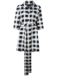 Vivienne Westwood Anglomania Checked Short Sleeve Coat Black
