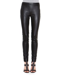 Emilio Pucci Skinny Leather Side Zip Trousers