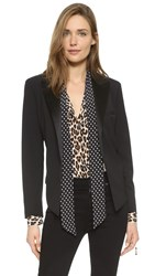 Equipment Kate Moss Wynne Tuxedo Blazer Black