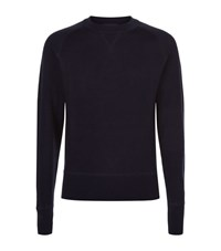 Tom Ford Solid Cotton Sweater Male Navy