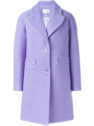 Carven Oversize Coat Pink And Purple