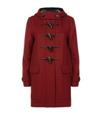 Burberry Wool Duffle Coat With Heart Lining Female Red