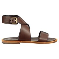 Jigsaw Rosy Cross Strap Sandals Chocolate