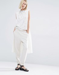Selected Milla Sleeveless Knitted Cardigan Snow White