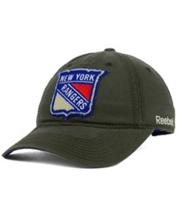 Reebok New York Rangers Textured Slouch Cap Olive