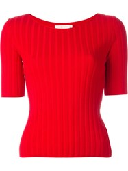 Tory Burch Shortsleeved Sweater Red