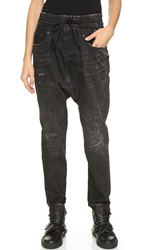 R 13 Harem Jogger Jeans Wasteland Black With Rip