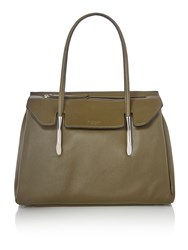 Fiorelli Carlton Green Large Flapover Tote Bag Green