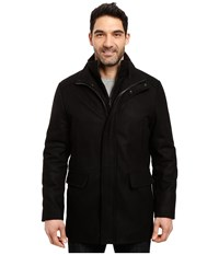 Calvin Klein Wool Stadium Jacket Black Men's Coat