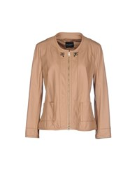 Atos Lombardini Coats And Jackets Jackets Women Skin Color
