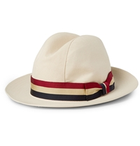 Lock And Co Hatters Monaco Woven Straw Trilby Hat White