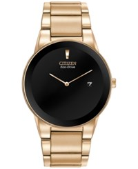 Citizen Men's Eco Drive Axiom Rose Gold Tone Stainless Steel Bracelet Watch 40Mm Au1063 53E