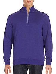 Bugatchi Quarter Zip Front Pullover Orchid