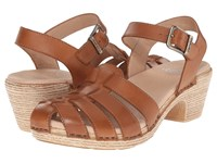 Dansko Milly Camel Full Grain Women's Sandals Brown
