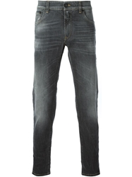 Dolce And Gabbana '14 Gold Stretch Fit' Denim Jeans Grey