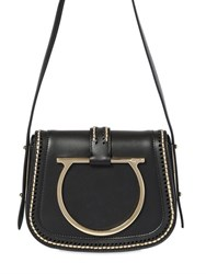 Salvatore Ferragamo Small Sabine Gold Stitched Leather Bag