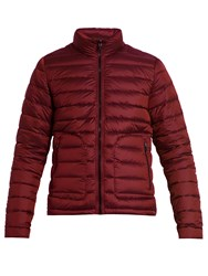 49 Winters Belsize Quilted Down Filled Coat Claret
