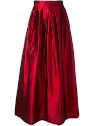 Ultrachic Glossy Effect Full Skirt Red