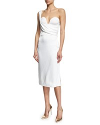 Cushnie Et Ochs One Shoulder Bustier Dress White Women's Size 18