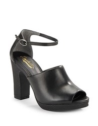 Seychelles Native Open Toe Block Heels Black