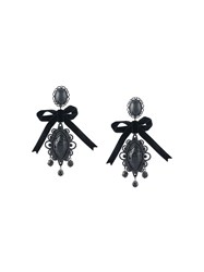 Dsquared2 Ribbon Draped Earrings Black