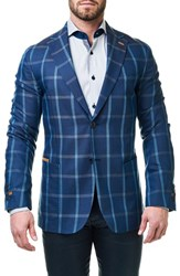 Maceoo Men's Checkmate Classic Fit Sport Coat