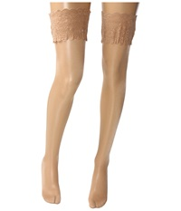 Wolford Satin Touch 20 Stay Up Thigh Highs Cosmetic Women's Thigh High Socks Shoes Khaki
