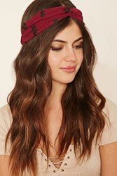 Forever 21 Floral Twist Front Headwrap