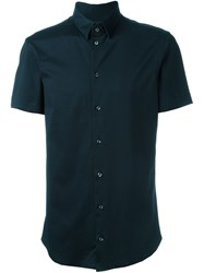 Emporio Armani Short Sleeve Shirt Blue