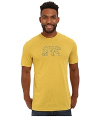 Merrell Polar Bear Graphic Tee Green Sulphur Heather Men's T Shirt Yellow