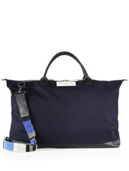 Want Les Essentiels Hartsfield Weekender Tote Navy Beige