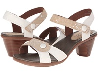 Aravon Mila White Multi Women's Sandals